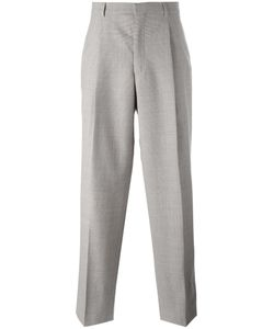 E. Tautz | Wide Leg Pleated Trousers 30 Wool/Viscose