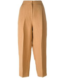 SportMax | High-Waisted Trousers 38 Linen/Flax/Viscose