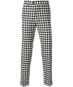 Berwich | Checked Slim Fit Trousers Men