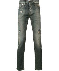 Denham | Distressed Slim-Fit Jeans 33/34 Cotton/Spandex/Elastane