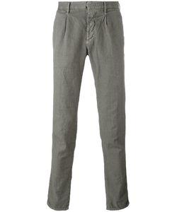 Incotex | Pleat Detail Tape Trousers 30 Cotton/Linen/Flax