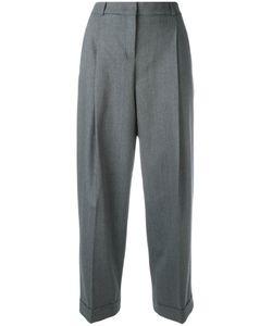 Jil Sander Navy | Cropped Pants 38 Polyester/Spandex/Elastane/Wool