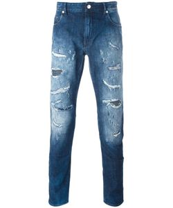 Love Moschino | Ripped Slim-Fit Jeans 34 Cotton/Spandex/Elastane