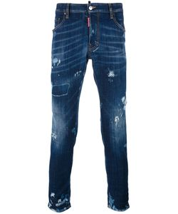 Dsquared2 | Skater Distressed Whisker Jeans 54 Cotton/Spandex/Elastane/Polyester