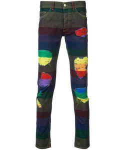 PALM ANGELS | Rainbow Stripe Jeans 30 Cotton