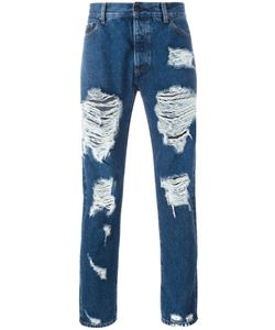 PALM ANGELS | Ripped Skinny Jeans 29 Cotton