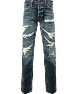 MASTERCRAFT UNION | Tapered Distressed Jeans Size 33