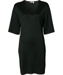 Lanvin | Deep V-Neck Dress Large Viscose
