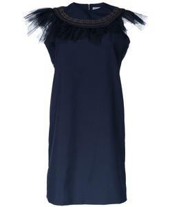Kolor | Ruffled Neck Dress 3 Polyester/Wool