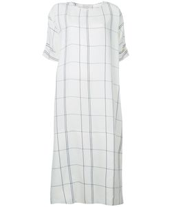 STUDIO NICHOLSON | Checked Dress 0 Linen/Flax/Viscose