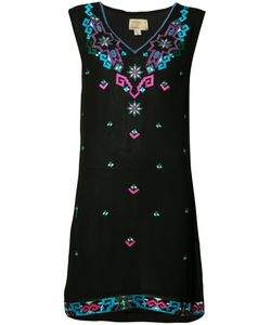 Nicole Miller | Embroide Shift Dress Xs Viscose