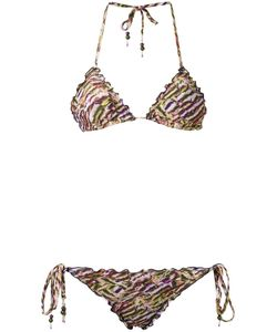 AMIR SLAMA   Printed Triangle Bikini Set Gg Elastodiene
