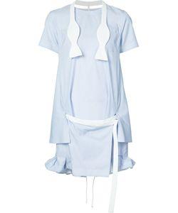 Sacai | Short Striped Dress With Tie