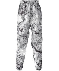 MSGM | Marble Print Track Bottoms 46 Polyester/Polyamide