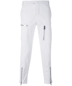 Les Hommes   Asymmetric Pocket Chino Trousers