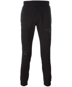 Diesel Black Gold | Tonal Print Track Pants Small Cotton