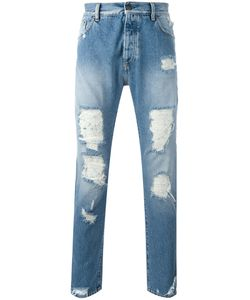PALM ANGELS | Distressed Jeans 33 Cotton/Polyester