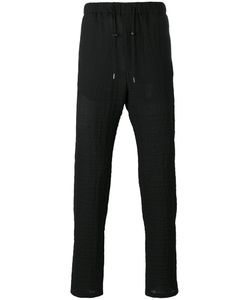 Emporio Armani | Drawstring Straight Trousers 48 Spandex/Elastane/Virgin Wool
