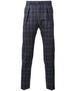 Paul Smith | Pleat Detail Plaid Trousers 32 Silk/Wool/Cupro