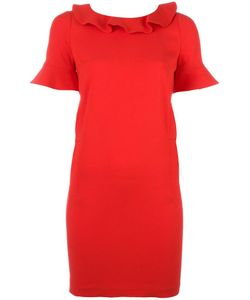 Twin-set | Ruffle Trim Shift Dress 40 Spandex/Elastane/Acetate/Viscose