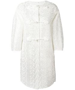 Ermanno Scervino | Sleeved Detailed Coat 38 Polyester/Polyamide