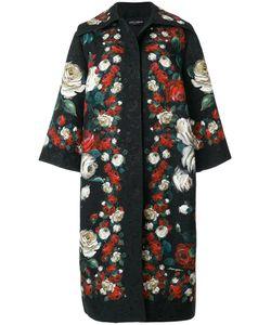 Dolce & Gabbana | Пальто С Принтом Роз