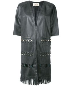 URBANCODE | Fringed Short-Sleeved Coat 8 Polyester/Polyurethane