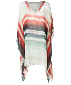 Brigitte | V Neck Striped Kaftan Pp Silk