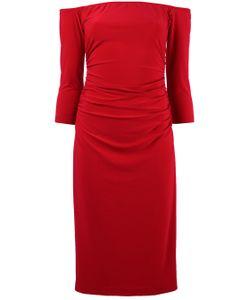 Norma Kamali   Off-Shoulders Shirred Waist Dress
