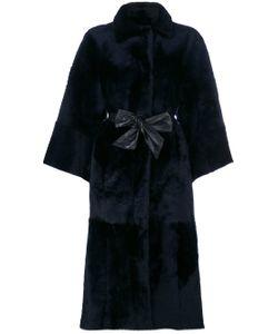 Drome | Leather Tied Coat