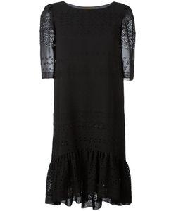 Saint Laurent | Broderie Anglaise Midi Dress Medium Silk/Cotton/Viscose