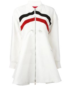 Moncler Gamme Rouge | Striped Flared Coat Size 0
