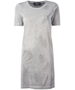 Dsquared2 | Microstudded T-Shirt Dress Medium Cotton/Aluminium