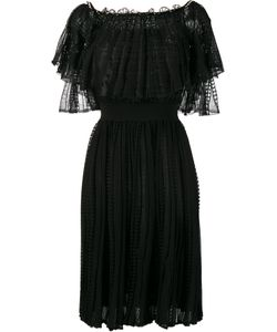 Alexander McQueen | Off-Shoulder Lace Dress Medium Silk/Cotton/Polyamide/Viscose