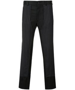 COMME DES GARCONS HOMME PLUS | Comme Des Garçons Homme Plus Pinstripe Panel Trousers