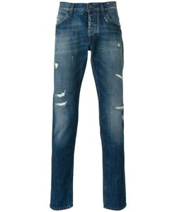 Dolce & Gabbana | Distressed Straight Jeans Size 50