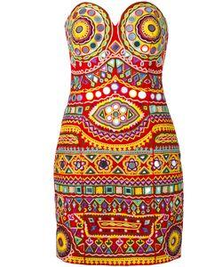 Moschino | Mirror Embroide Mini Dress 42 Cotton/Polyamide/Spandex/Elastane