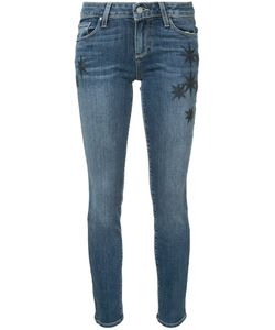 Paige | Skyline Ankle Embroide Jeans 26 Cotton/Polyester/Spandex/Elastane