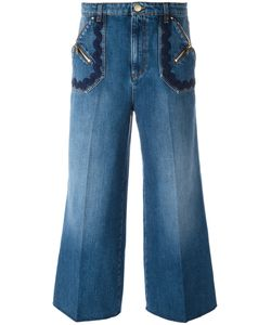 Sonia Rykiel | Wide-Legged Cropped Jeans 40 Cotton/Lyocell