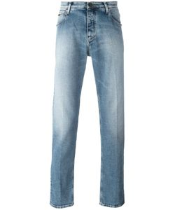 Emporio Armani | Faded Straight-Leg Jeans 31 Cotton/Spandex/Elastane
