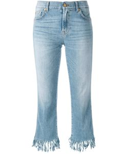 7 for all mankind | Frayed Cropped Jeans Size 29