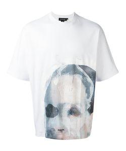 Icosae | Face Print T-Shirt Small Cotton