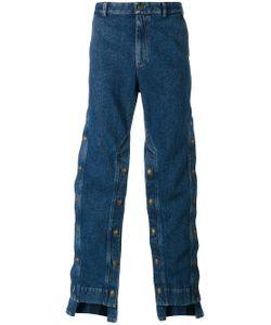 Y / PROJECT   Decorative Button Wide-Leg Jeans