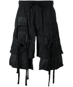 Ktz   Embroidered Gathered Shorts