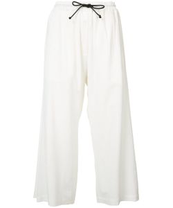 Isabel Benenato | Cropped Drawstring Trousers
