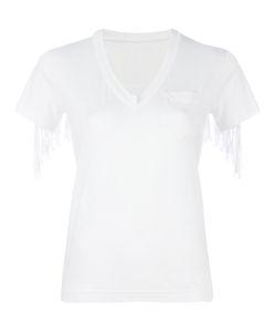 Sacai | Fringed Trim T-Shirt 3 Linen/Flax/Polyester
