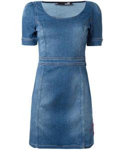 Love Moschino | Denim Fitted Dress 40 Cotton/Spandex/Elastane/Polyester