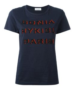 Sonia Rykiel | Beaded Logo T-Shirt Size Large