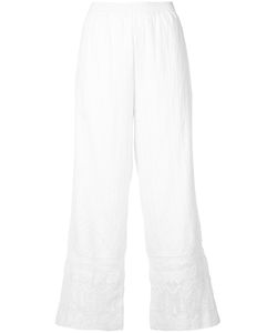 Kobi Halperin | Lace Trim Flared Pants Size Small