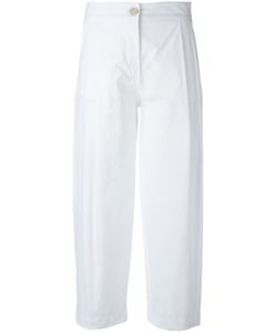 Erika Cavallini | Pleat Detail Cropped Trousers 44 Cotton/Spandex/Elastane